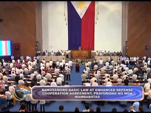 Solons prioritize Bangsamoro Basic Law and Enhanced Defense Cooperation