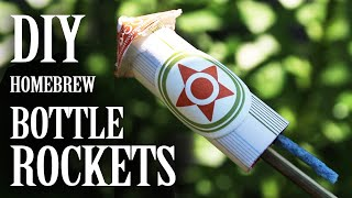 Home-brew Bottle Rockets - (From Household Materials)