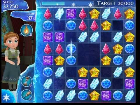 Frozen Free Fall 3 stars on Level 33 no power-ups