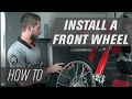 How To Install a Front Wheel on a Dirt Bike