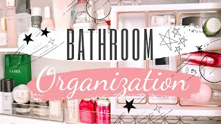 Small Bathroom Organization Ideas/ Dollar Tree & Container Store Organizing/ Clean with me 2019