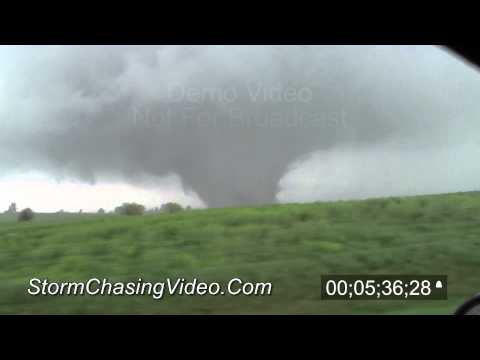 4/14/2012 Geneseo, KS Tornado - Stock Footage