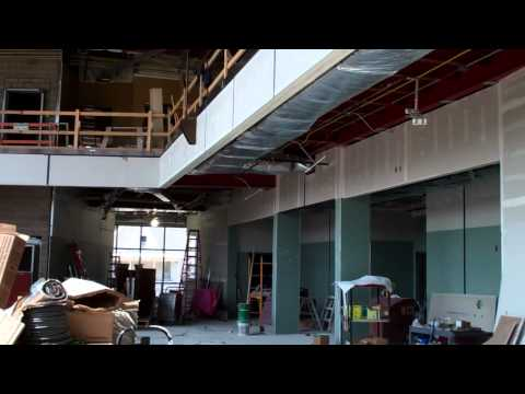 Juvenile Justice Center - interior lobby under construction.MP4