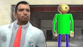 BALDI INSIDE SCP FACILITY?! - Garry's Mod Gameplay - Gmod Baldi's Basics Survival