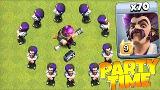 "ALL PARTY WIZARDS w/ DJ WARDEN!! ""Clash Of Clans"" NEW UPDATE"