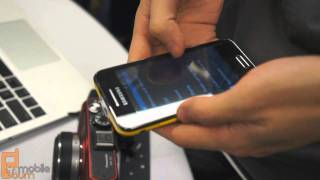 Samsung Galaxy Beam projector smartphone live from MWC 2012