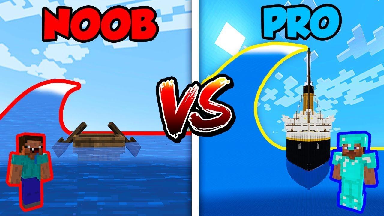 Minecraft NOOB vs. PRO: TSUNAMI in Minecraft!