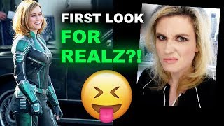 Captain Marvel Suit FIRST LOOK Brie Larson REACTION