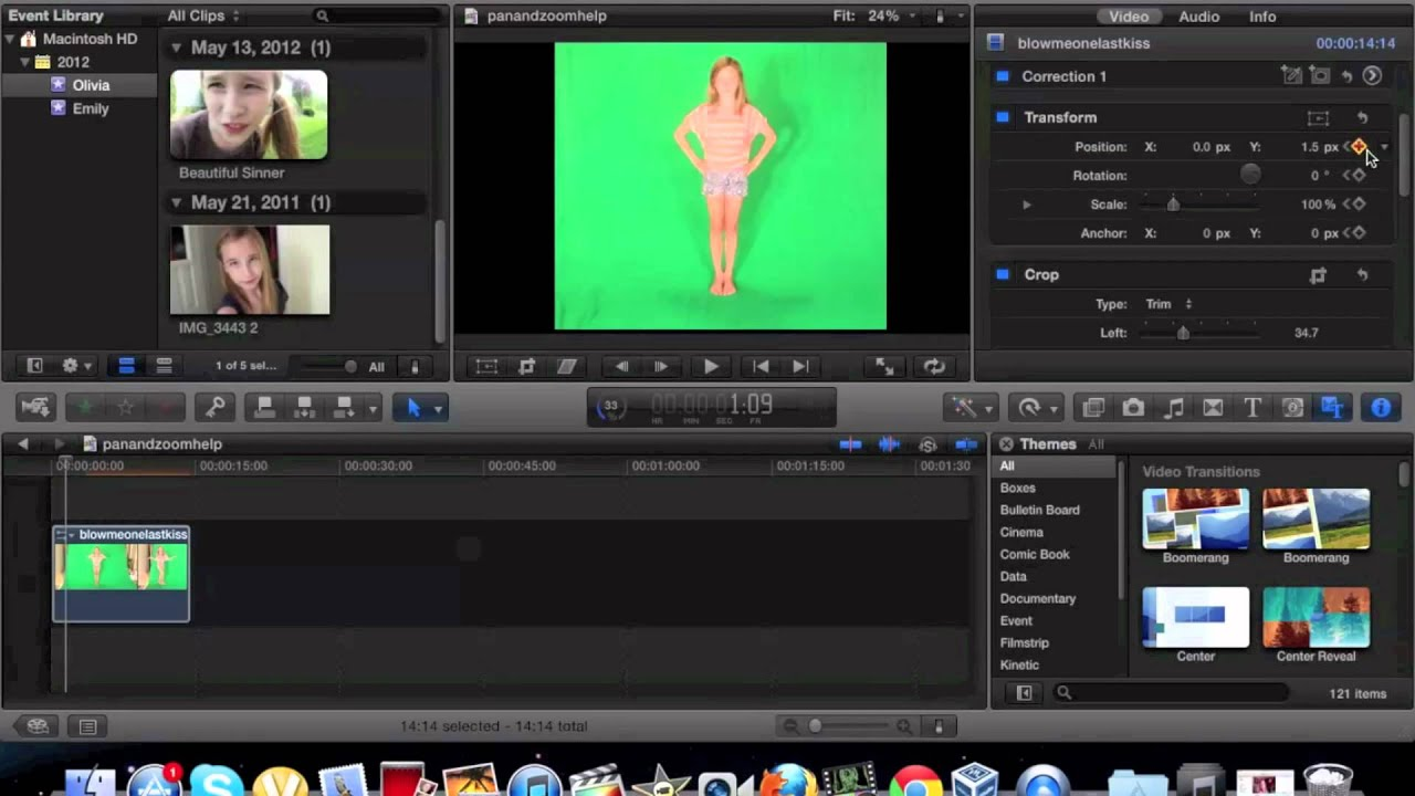 how to make video in final cut pro less gigabytes