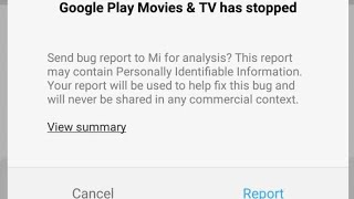 Miui 9 FIX - Google play movies & tv stopped bug!
