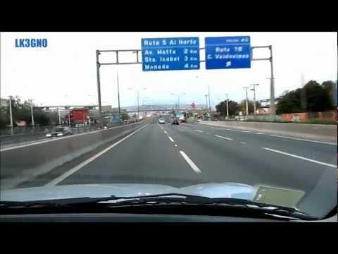 Tramo de la Autopista Central, en Santiago de Chile.