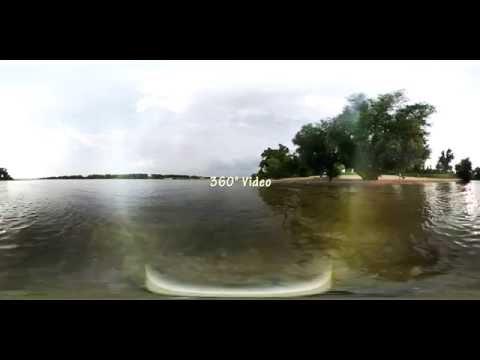 360 Grad Video: Mit Hund am Rhein, Düsseldorf (Lörick)