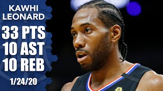 Kawhi Leonard records his first career triple-double in Clippers vs. Heat | 2019-20 NBA Highlights