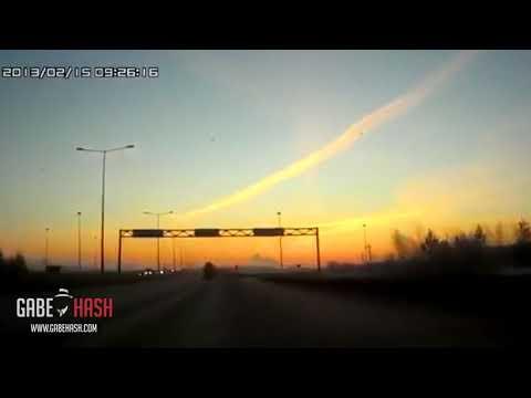 ¿OVNI SALVA LA TIERRA Y DERRIBA METEORITO DE RUSIA? 23 DE FEBRERO 2013 (EXPLICACIÓN)