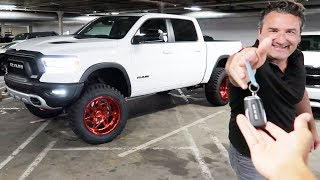 PICKING UP MY TRUCK AFTER 2 LONG MONTHS! *LIFT, TIRES & RIMS INSTALL*