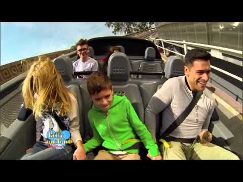 Kelly Ripa and Family at Disney World Test Track on