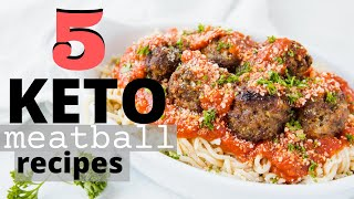 5 KETO MEATBALL RECIPES - AIR FRYER | OVEN | STOVE (Italian, Taco, Pizza, Buffalo Chicken & Asian)