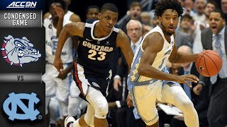 Gonzaga vs. North Carolina Condensed Game | 2018-19 ACC Basketball