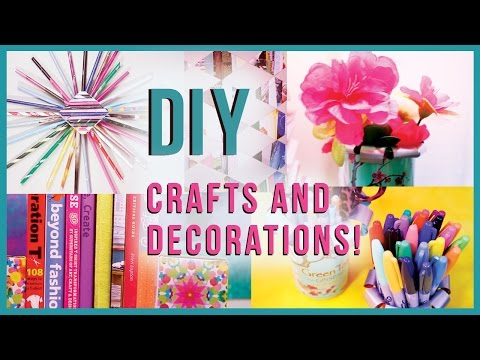 DIY Crafts & Room Decorations RECYCLED EDITION! Many DIY Project Ideas
