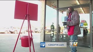 Cowboys Run Herd Of Cattle Around Ridgmar Mall, Launch Red Kettle Campaign