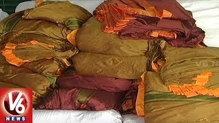 Powerloom Weavers Speed Up Making Of Bathukamma Sarees | Rajanna Sircilla