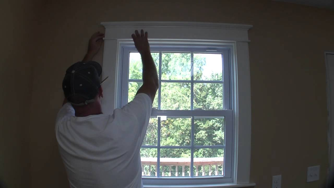 How To Trim A Craftsman Style Window Pt 3 Youtube