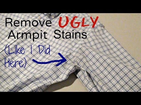 How to get rid of sweat stains from clothes how to save for Remove armpit stains from shirts