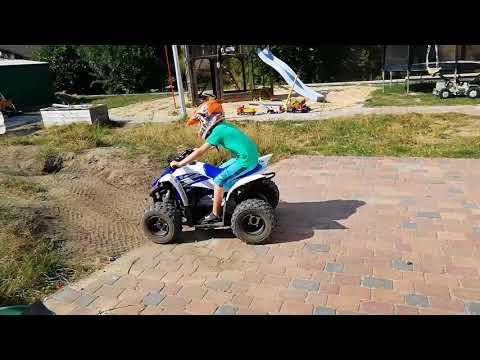 Ersten Fahrstunden auf meinen Hof mit mein Yamaha YFZ 50ccm Quad:-)