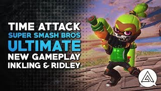 Time Attack | Super Smash Bros Ultimate New Gameplay - Inkling & Ridley