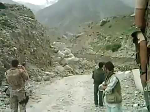 Rock flow like floods in Afghanistan