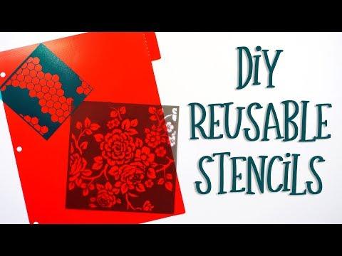 DIY Reusable Stencils   Silhouette Cameo Tutorial