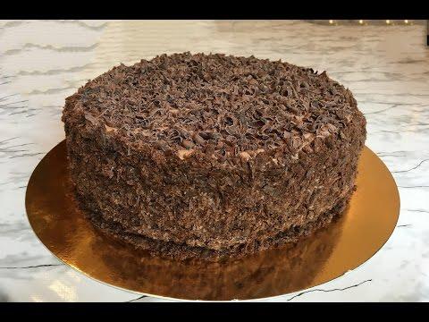 Шоколадный наполеон торт рецепт пошагово