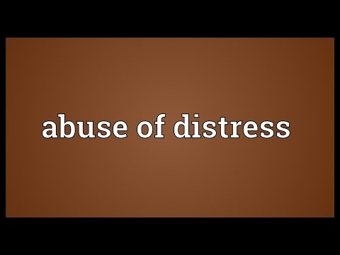 Header of Abuse of Distress