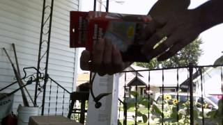 Un-boxing my new weed eater & motion detector! 7/17/2014