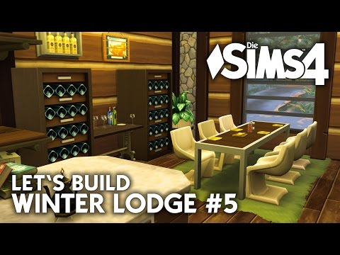 Die Sims 4 Haus bauen | Winter Lodge #5 - Let's Build (deutsch)