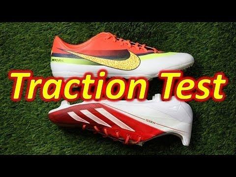 Nike CR7 Mercurial Vapor 9 VS Adidas Messi F50 adizero miCoach 2 - Traction Test
