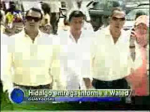 Emelec..Hidalgo entrega informe a Wated.