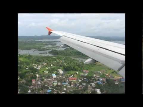 Landing at Port Blair (IXZ) Onboard Air India Airbus A319 VT-SCC