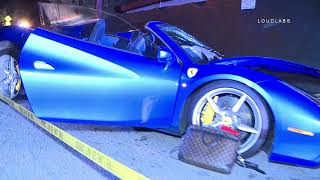Ferrari vs Maserati Head on Collision / Beverly Glen  2.17.19