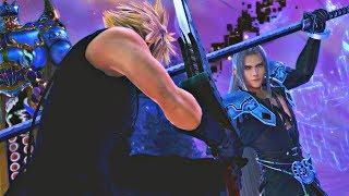 Dissidia FF NT - Cloud vs Sephiroth Cutscene & Fight (English) PS4 Pro