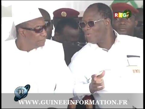 JT RTG DU 23 mai 2015 Alassane Ouattara invite Alpha Condé inauguration de la FRATERNITE