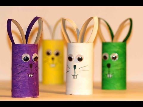 Простые поделки для детей. Зайцы из картона. - Vevopak