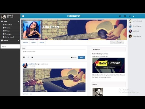 How To Make A Social Networking Website Like Facebook | Create Chatting Website