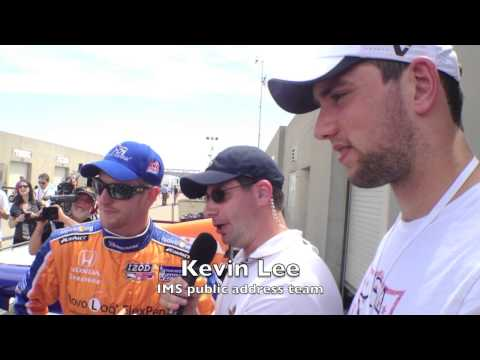 Andrew Luck, other Colts visit Indianapolis Motor Speedway