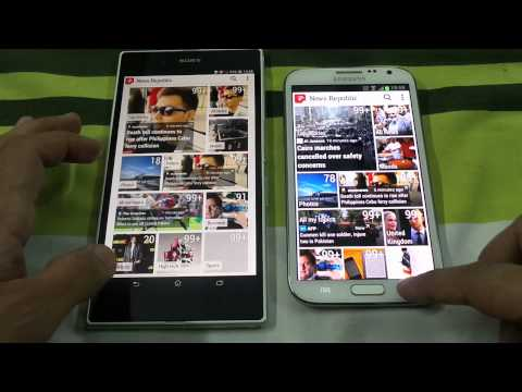 Sony Xperia Z Ultra Vs Samsung Galaxy Note 2 Opening Apps Speed Comparison