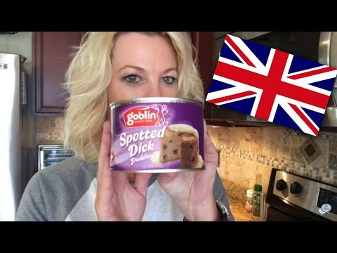 Tasting Spotted Dick For The First Time   British Pudding   British Dessert