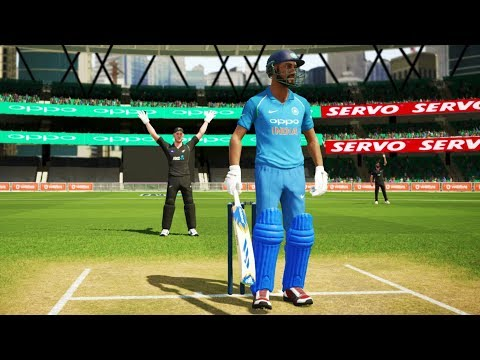 India Vs New Zealand 1st ODI Match Don Bradman Cricket 17