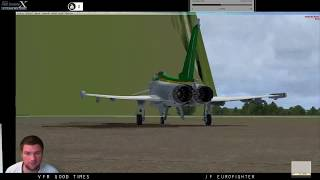 FSX:SE VFR Eurofighter East Midlands with ATC