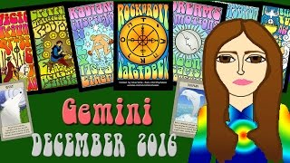 GEMINI DECEMBER 2016 Tarot psychic reading forecast predictions free