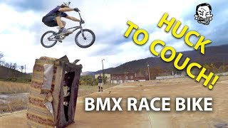Riding street on a bmx race bike | Featuring Skills with Phil